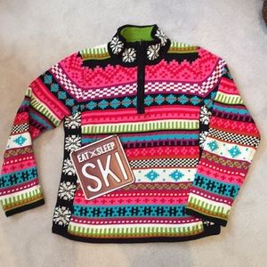 Nordic themed sweater for the slopes or the lodge
